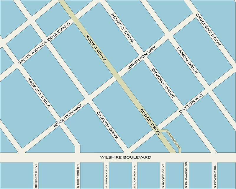 Rodeo Drive Map